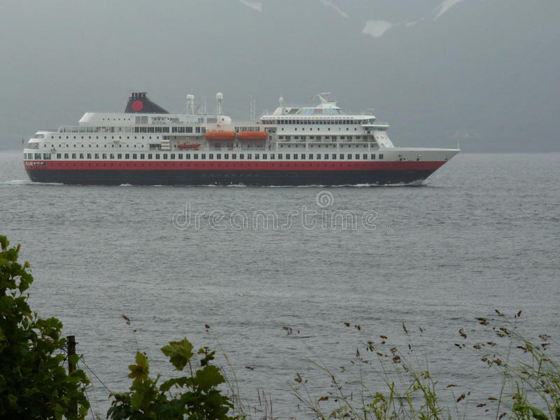 Norway - The Hurtigruten. The ships of the Hurtigruten are still many islands and remote areas in Norway, the only way to come into contact with the mainland royalty free stock photography