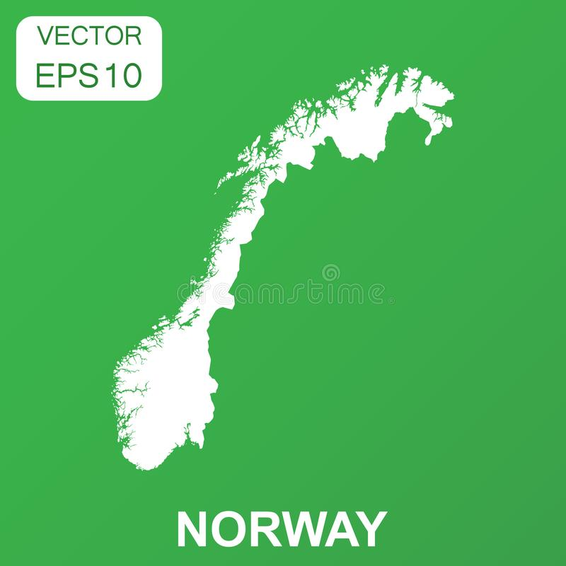 Norway map icon. Business concept Norway pictogram. Vector. Illustration on green background vector illustration