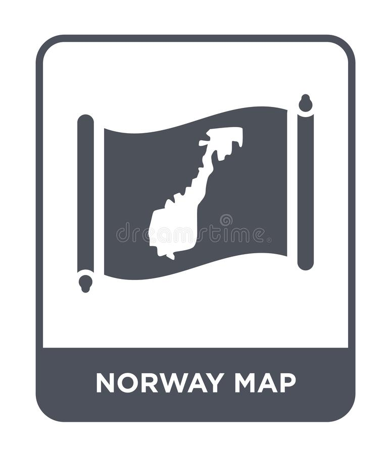Norway map icon in trendy design style. norway map icon isolated on white background. norway map vector icon simple and modern. Flat symbol for web site, mobile royalty free illustration