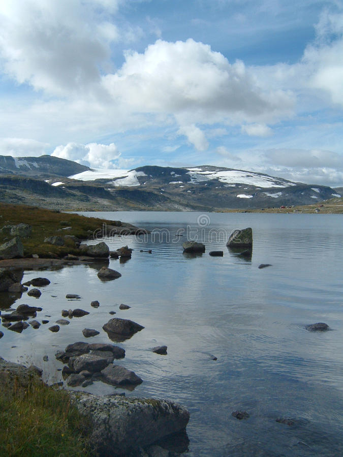 Norway Mountain And Lake In Summer Stock Photos
