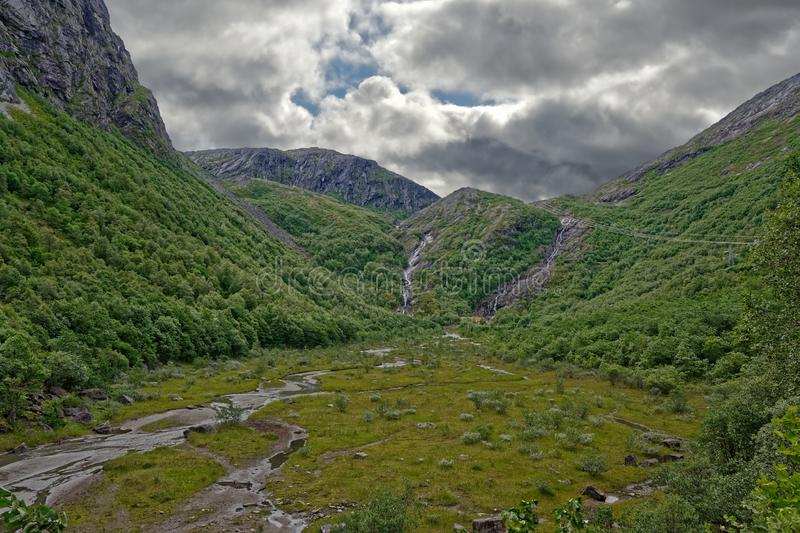 Norway. Wide valley in the mountains of Sunndalen stock photo