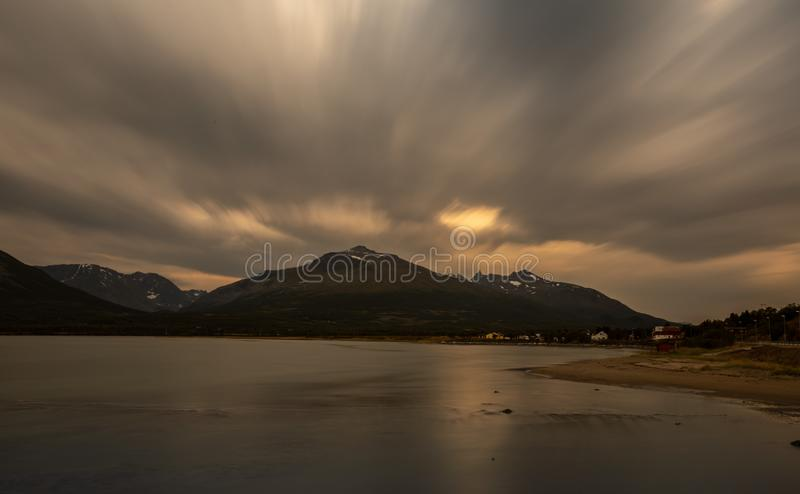 Norway, near the Lyngen Alps. Norway is one of the best places for a photographer, it`s like a dream come true royalty free stock images