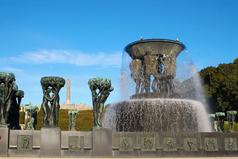 norway Oslo parka rzeźby vigeland obrazy royalty free
