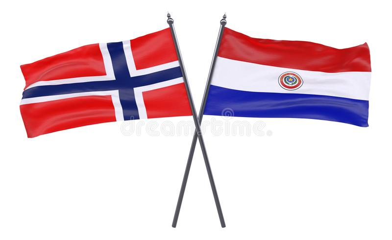 Two crossed flags royalty free stock photos
