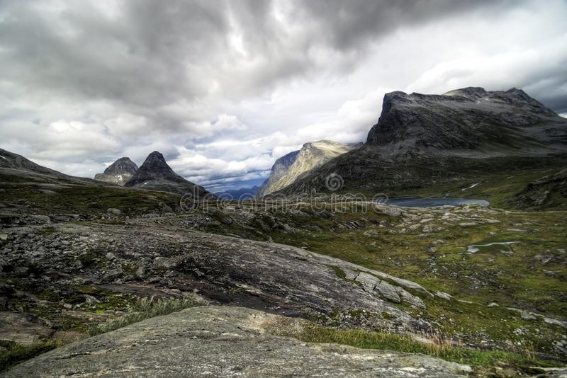 Norway, rocky mountains. royalty free stock photography