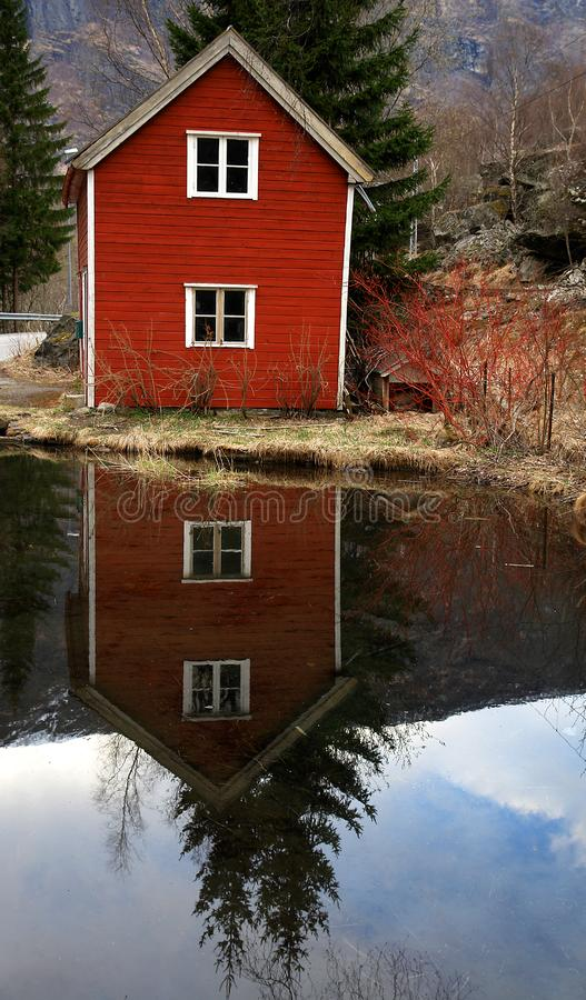 Download Norway rural scape stock photo. Image of wood, relax, reflection - 7745968
