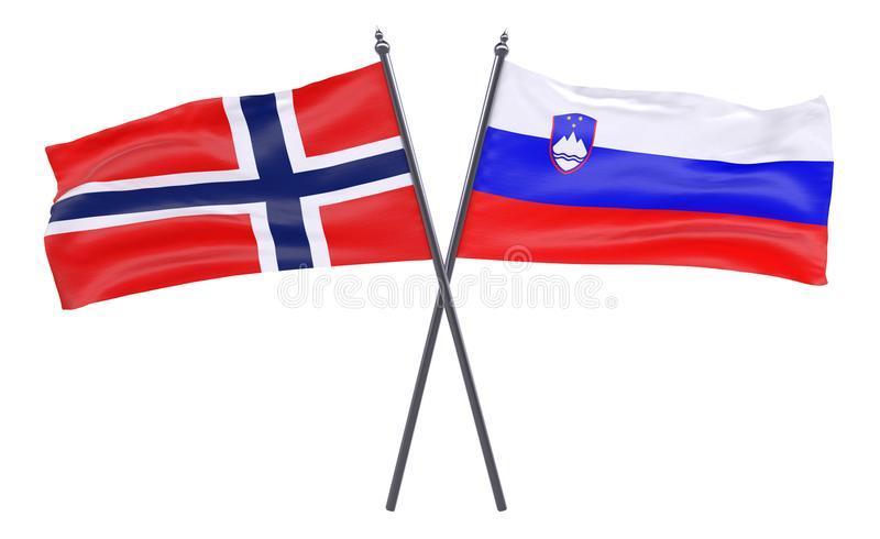 Two crossed flags royalty free stock image