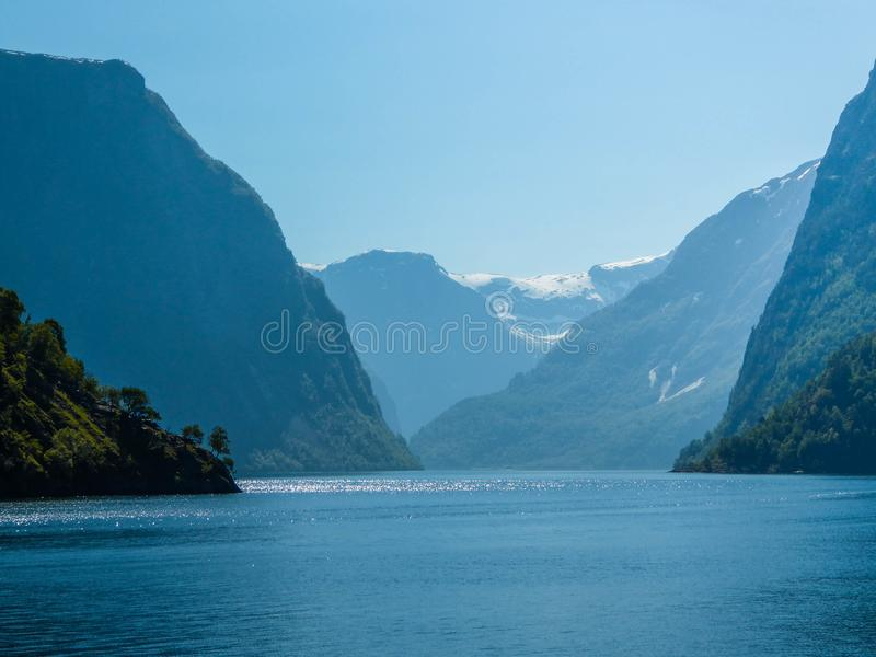 Norway - Sognefjord fjord cruise stock photo