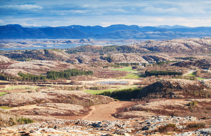 Norway in spring season. Mountain landscape. Northern Norway in spring season. Mountain landscape royalty free stock photos