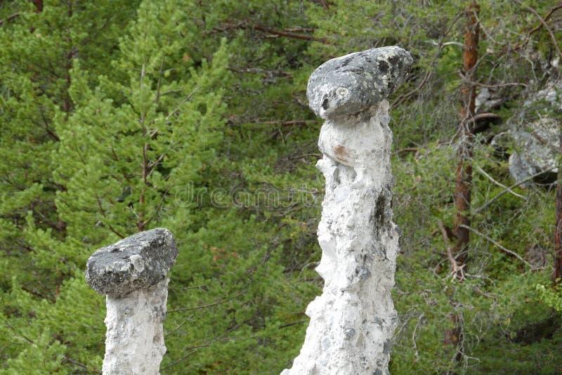 Norway stone errosion stock image