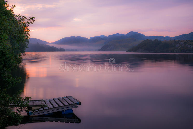6 am in Norway royalty free stock photo