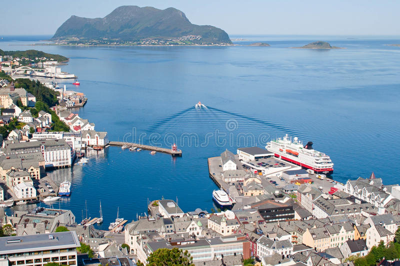 Norway, view of the city of Stavanger and fjord royalty free stock photo