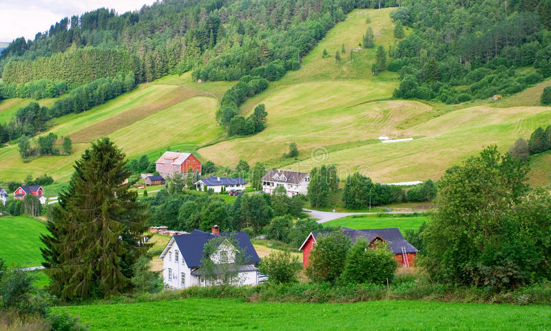 Download Norway village stock photo. Image of home, norway, mountain - 26207520