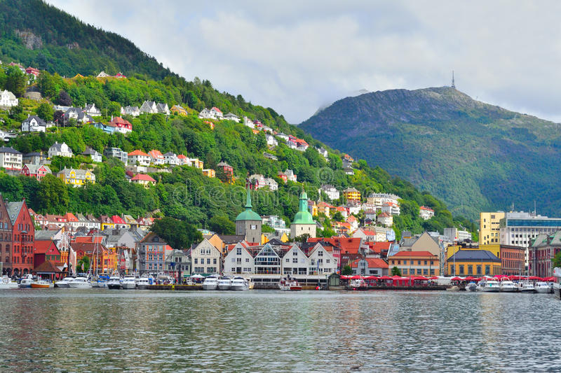 norway Ville-vue de Bergen photo stock