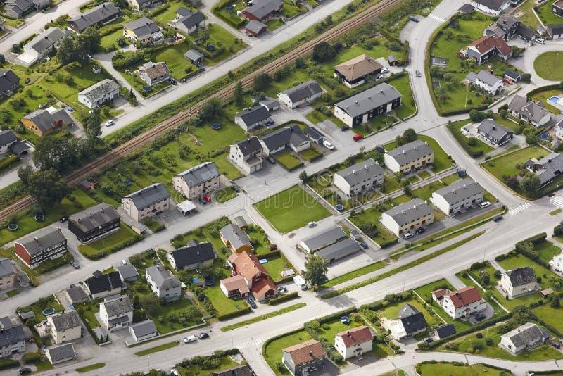 norway Vue rurale européenne aérienne de ville Andalsnes Nesaksla luttent photos stock