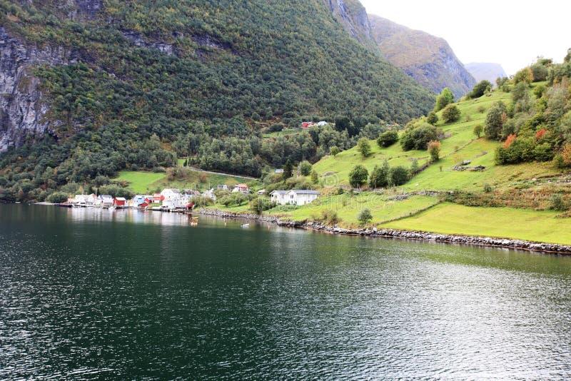 Norwegen-Dorf lizenzfreie stockfotografie