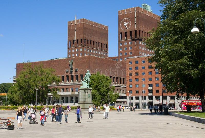 norwegen Oslo Rathaus lizenzfreies stockbild