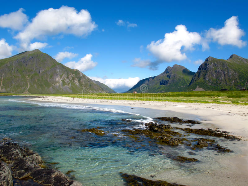 Norwegen-Strand lizenzfreie stockfotografie