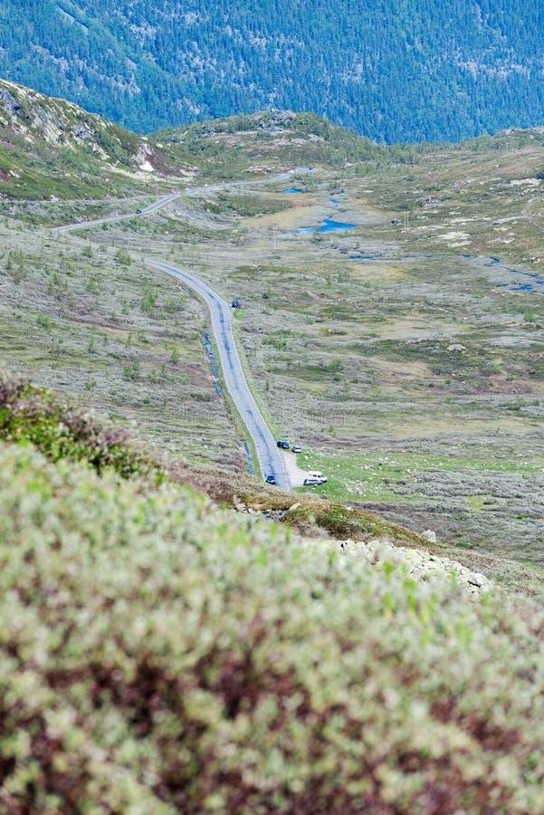 Norwegia drogi krajobraz w górach obrazy stock