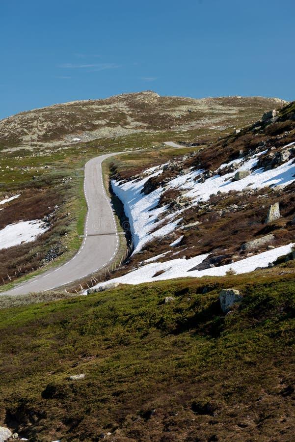 Norwegia drogi krajobraz w górach obraz stock