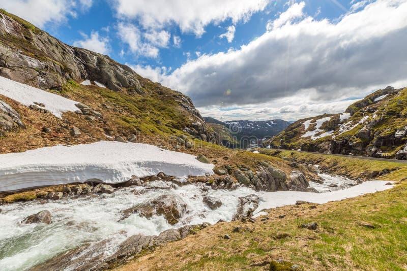 Norwegia góry krajobraz obrazy stock