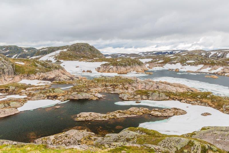 Norwegia góry krajobraz zdjęcie royalty free
