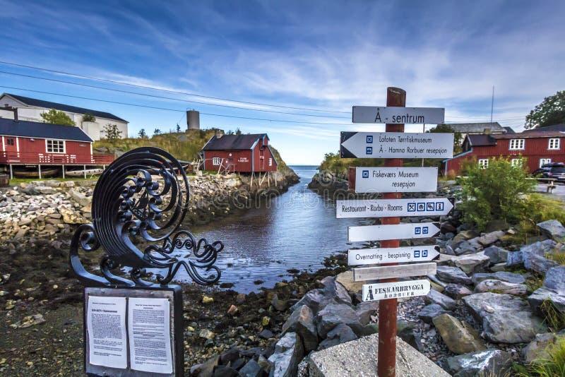 Norwegia I Lofoten, Lofoten wyspy - obraz royalty free
