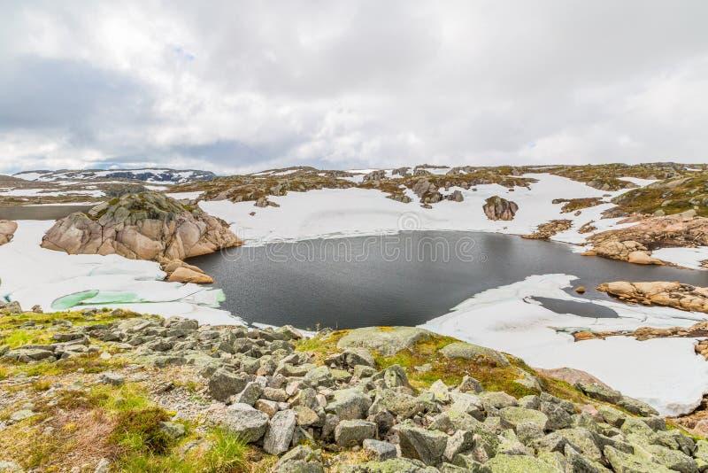 Norwegia jeziora halny krajobraz zdjęcia stock
