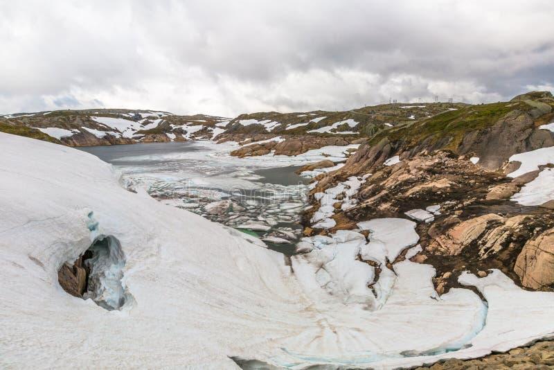 Norwegia jeziora halny krajobraz obraz royalty free