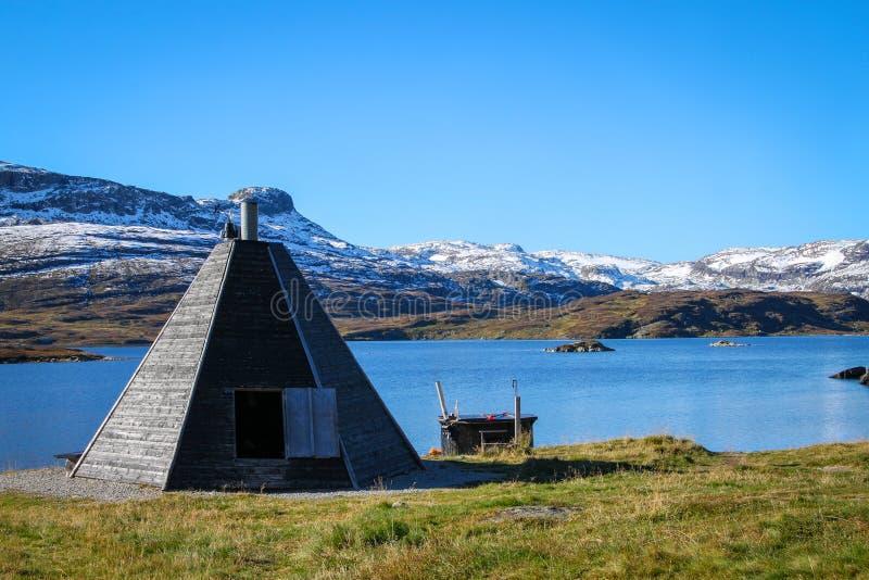 Norwegia jezioro i góry fotografia royalty free