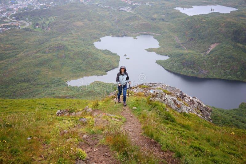 Norwegia kobiety turysta zdjęcia stock