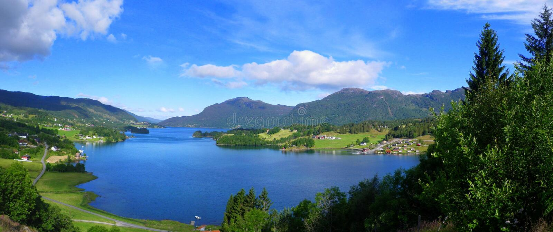 Norwegia krajobraz zdjęcia royalty free
