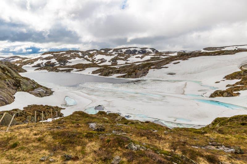 Norwegia lodowa jeziora krajobraz obraz stock