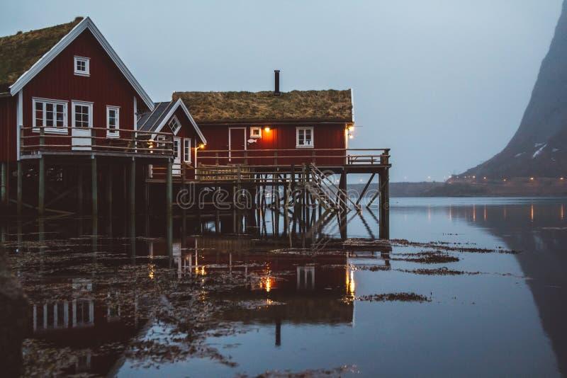 Norwegia rorbu g zdjęcia stock