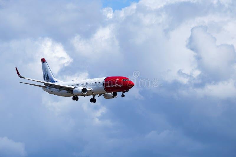 Norwegian Air Shuttle ASA, Boeing 737 - 8JP stock afbeelding