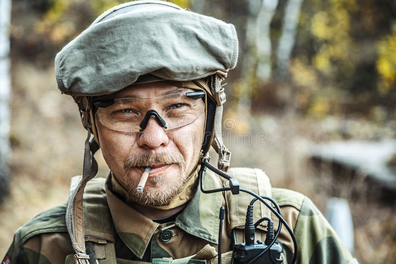 Norwegian Armed Forces soldier stock image