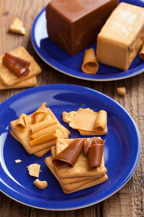 Download Norwegian brunost stock photo. Image of sweet, cracker - 27913934