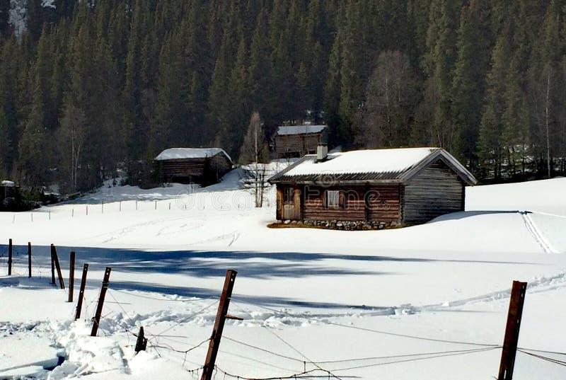 Norwegian cabin royalty free stock images