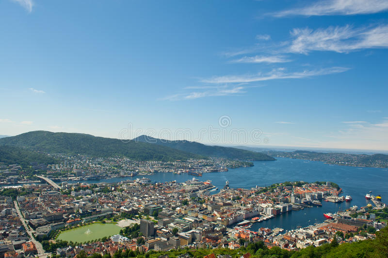 Download Norwegian city of Bergen. stock image. Image of brightly - 25832347