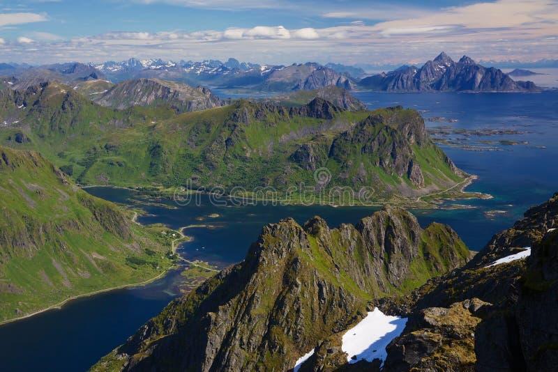 Norwegian coast stock image