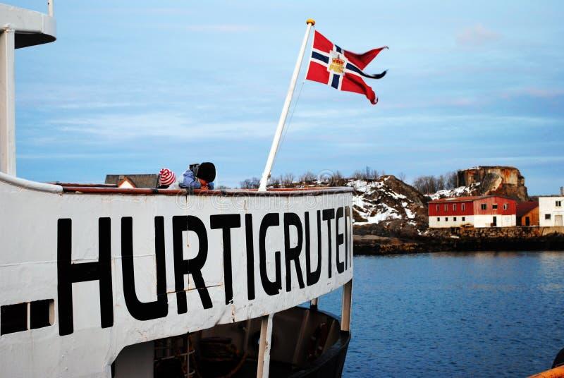Norwegian Coastal Express stock photo