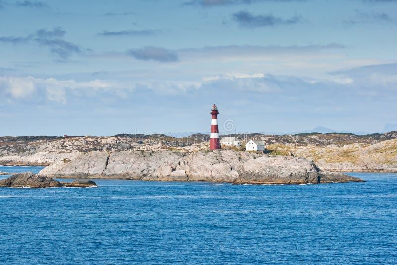 Coastal landscape with lighthouse, Norway - Scandinavia royalty free stock image