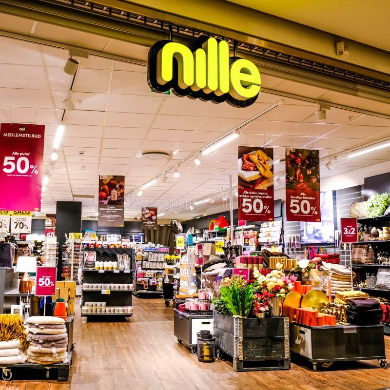 Norwegian Discount Store Nille In Sandnes stock photos