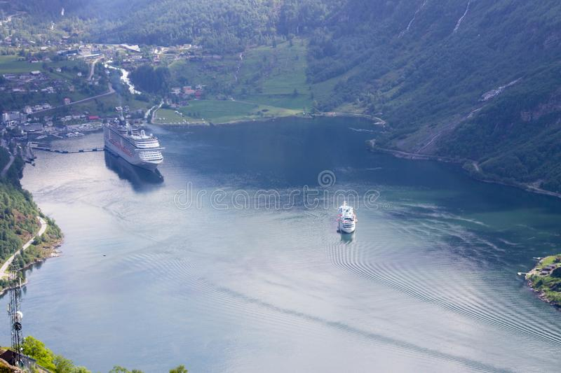 Norwegian fjords royalty free stock images