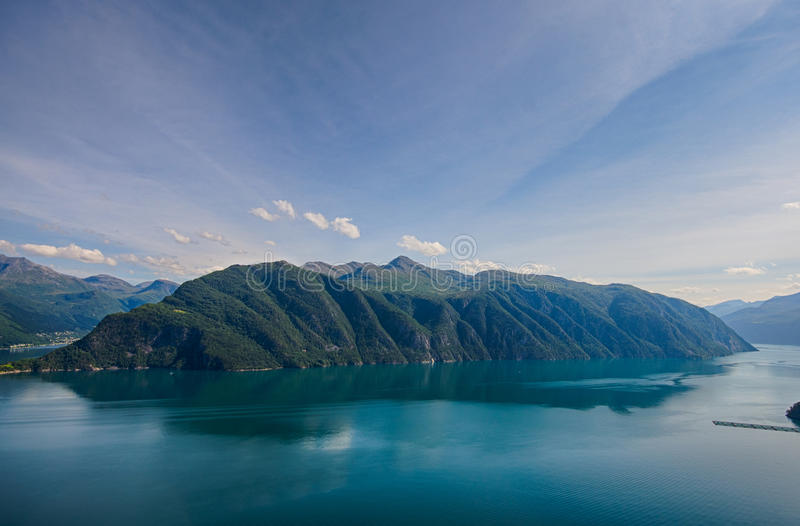 The Norwegian fjords stock photography