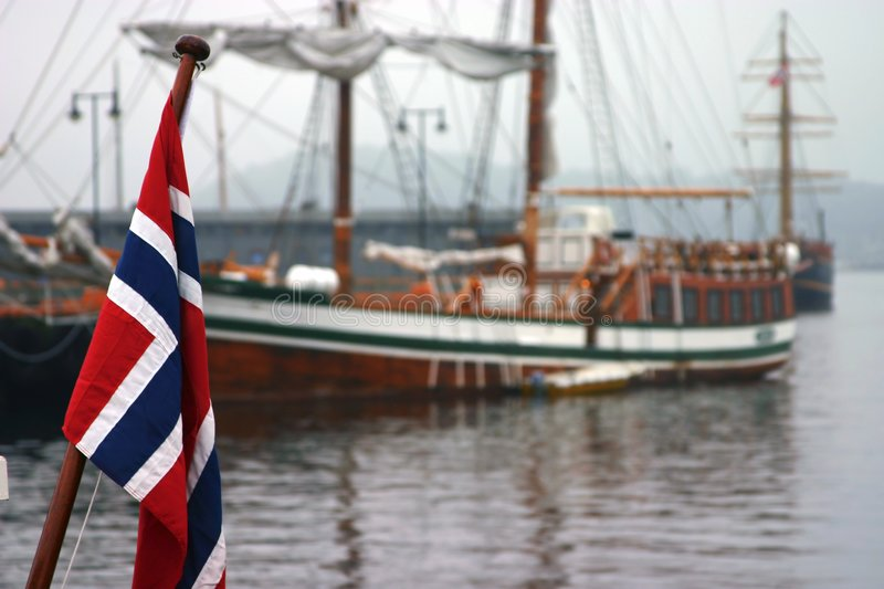 Norwegian Flag royalty free stock photography