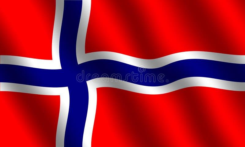 Norwegian flag royalty free illustration