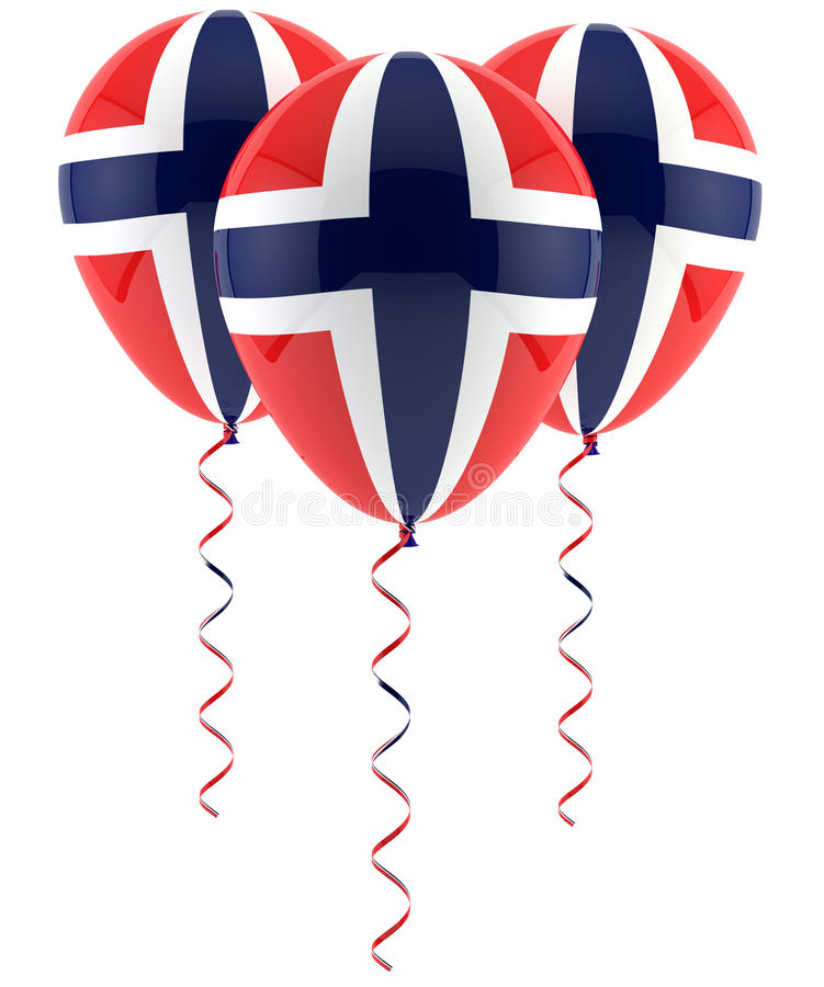 Download Norwegian Flag Balloon Royalty Free Stock Images - Image: 29305319