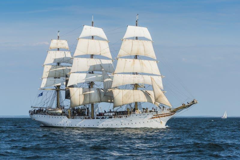 Norwegian fullrigger Sørlandet sailing royalty free stock photos