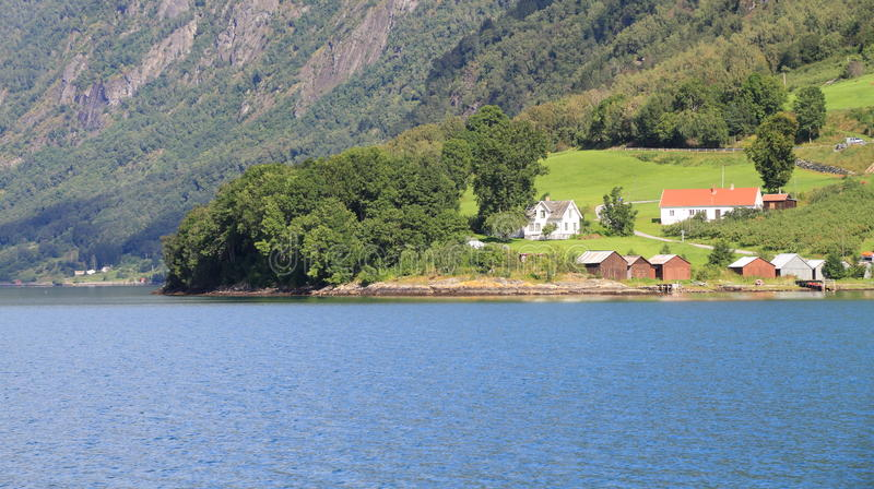 Download Norwegian houses stock image. Image of fjord, house, edge - 23835441